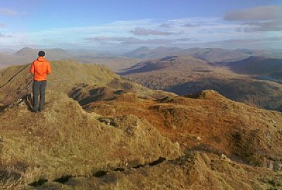 view from top of beinn bhuidhe