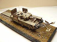 British Churchill AVRE Tank Diorama