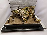 German Jagdpanther Ausf G Ardennes Diorama