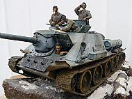 Soviet WW II SU-100 Tank Destroyer Diorama