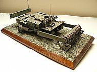 British Churchill Toad Mine Flail Tank Diorama