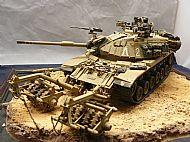 Israeli IDF M60A1 Blazer Tank with KMT-4 Mine Roller