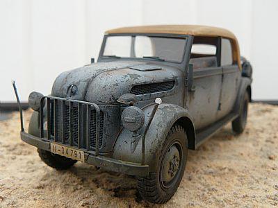 german second world war steyr 1500 a staff car 1/35 scale model