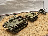 French AMR-UE Citroen-Kregresse/Renault Tankette with cargo trailer and 25mm Hotchkiss Anti-Tank Gun