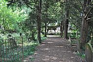 Pathway back to the Lych Gate