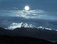 'moon over Beinn Sgritheall'