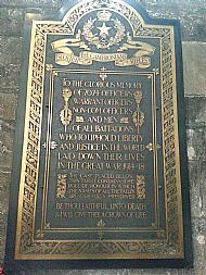 Cameronians Memorial Glasgow Cathedral.