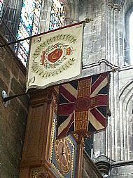 HLI Flags and clock Glasgow Cathedral.
