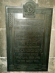 Cameronians 8th Battalion Glasgow Cathedral.