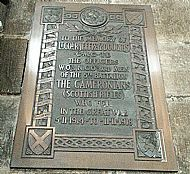 5th Battalion Memorial Glasgow Cathedral.