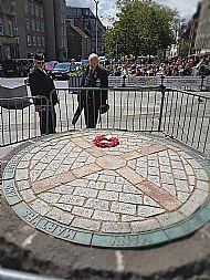 Grass market memorial.