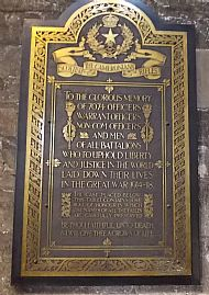 memorial plaque Glasgow cathedral