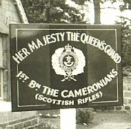 Ballater 1964, Barrack Sign.