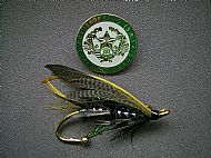 Cameronian Salmon Fly Brooch.