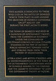 Memorial Plaque Battle of Dunkeld.