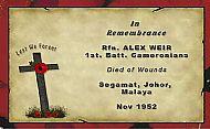 Rifleman Alex Weir.