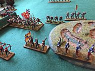 From behind the English right flank