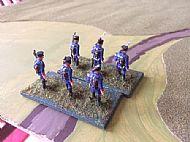 French light Infantry arrive