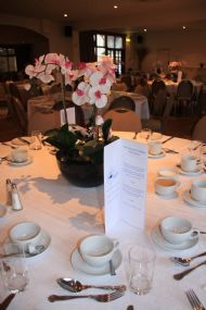Table layout at The Waterside hotel