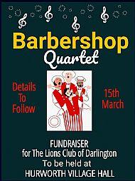 Barbershop Quartet 2pm 15th March