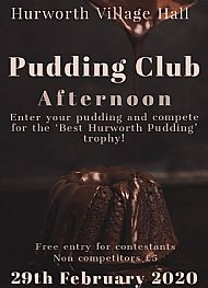 The Pudding Club 2.30pm 29th February