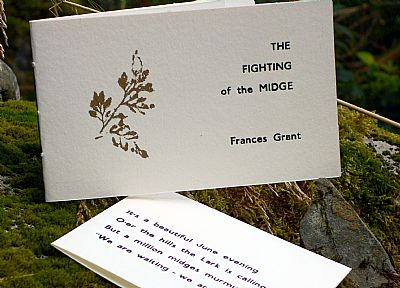 fighting of the midge letterpress poetry pamphlet from hestan isle press