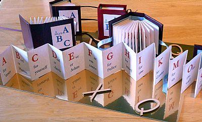 accordion-fold abc book from hestan isle press