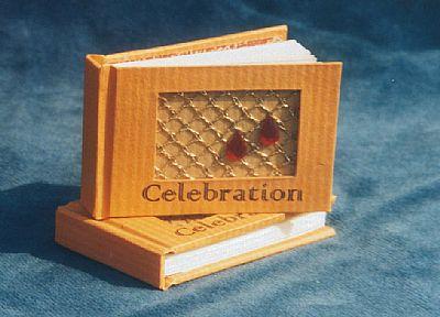 celebration letterpress miniature book from hestan isle press
