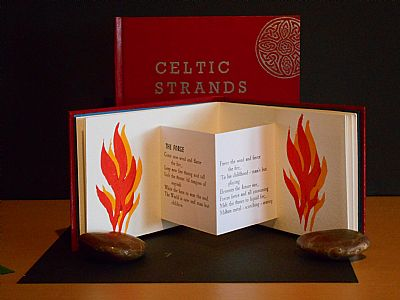 celtic strands, a 'pop - out'  poetry book.