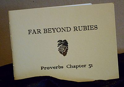 far beyond rubies letterpress booklet from hestan isle press