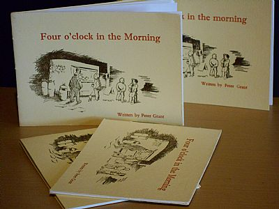 four o'clock in the morning letterpress booklet from hestan isle press