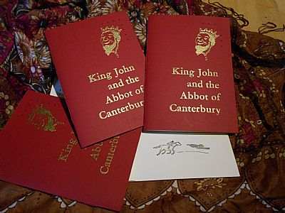 king john and the abbot of canterbury letterpress poetry pamphlet from hestan isle press