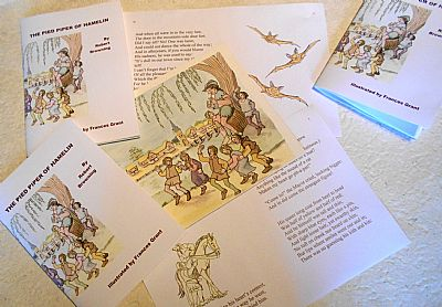 pied piper digitally printed illustrated book from hestan isle press