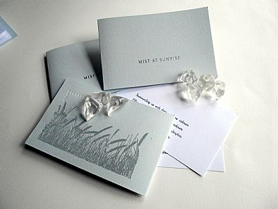 mist at sunrise letterpress poetry pamphlet from hestan isle press