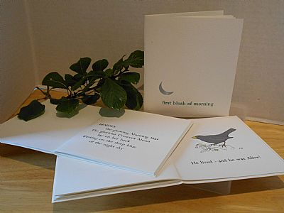 first blush of morning letterpress poetry pamphlet from hestan isle press