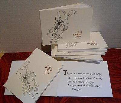 the whistling dragon letterpress poetry pamphlet from hestan isle press