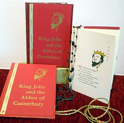 king john and the abbot of canterbury hard cover poetry book from hestan isle press