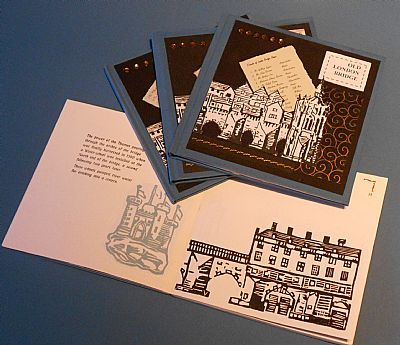 old london bridge illustrated letterpress book from hestan isle press
