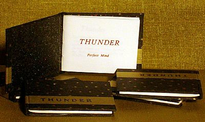 thunder letterpress miniature book from hestan isle press