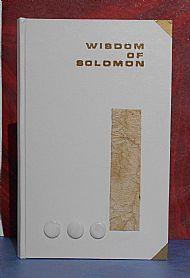 Wisdom of Solomon with pearl decoration