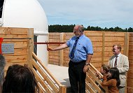 professor john brown opens the jim savage lowden observatory in culloden
