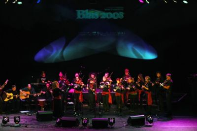 kiltearn fiddlers on stage at eden court theatre