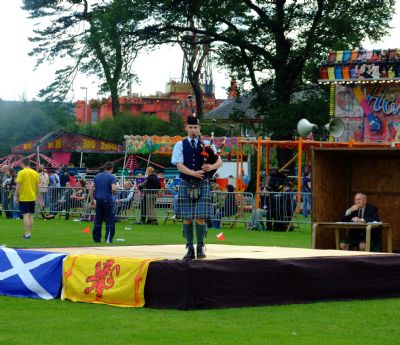 alasdair turner winning the piobaireachd  competition  at invergordon highland gathering