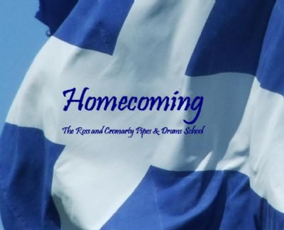 ross and cromarty pipes and drums school homecoming