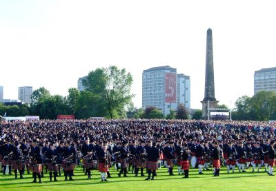 the massed band, world pipe band champioships, 2009