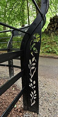 detail of the railings