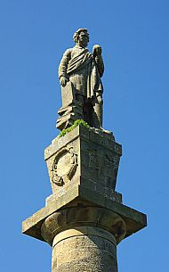 the top of the hugh miller monument