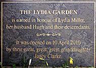 lydia garden plaque