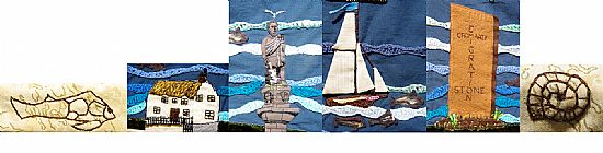 embroidery banner friends of hugh miller