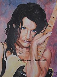 meredith brooks portrait painting by david paterson